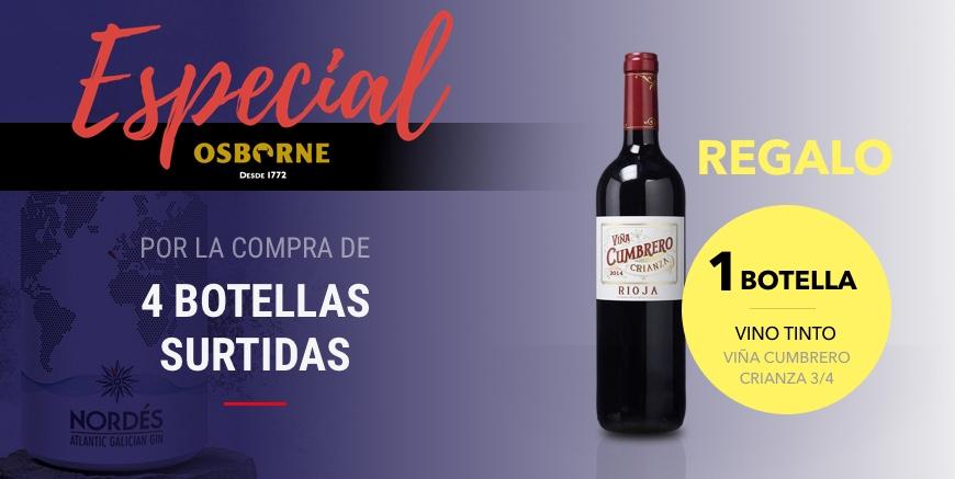 Especial Osborne – Botella vino tinto