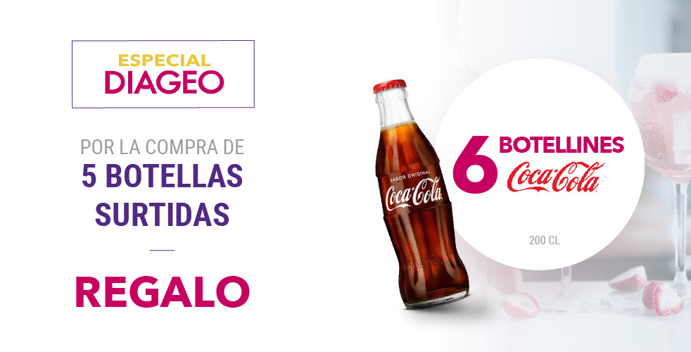 Especial Diageo – Botellas Coca-Cola