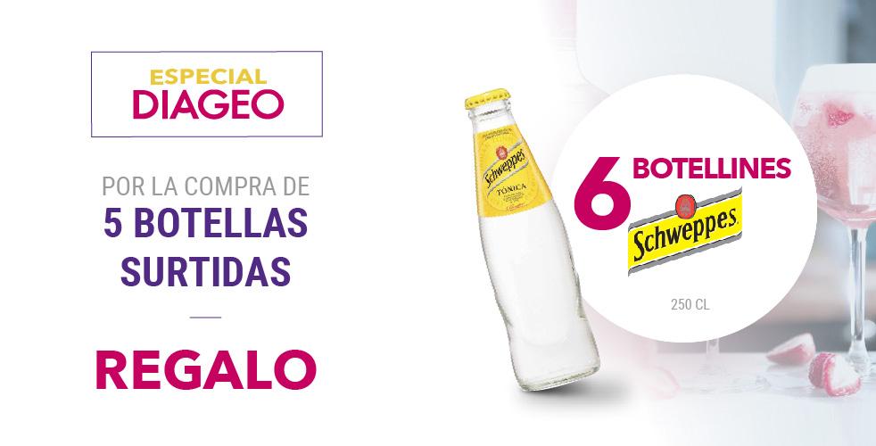 Especial Diageo – Botellas Schweppes