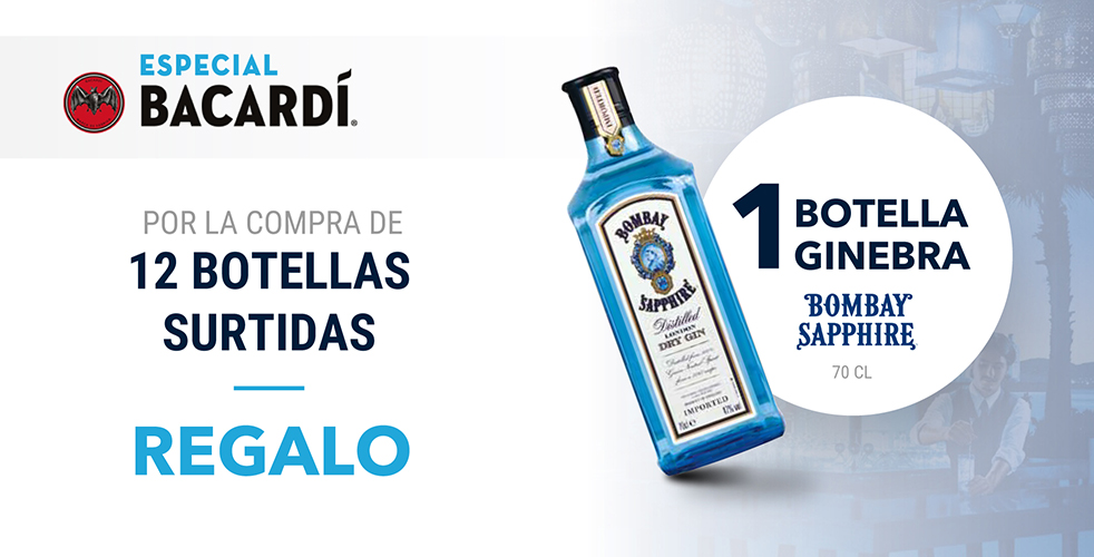 ESPECIAL BACARDI – BOMBAY SAPPHIRE