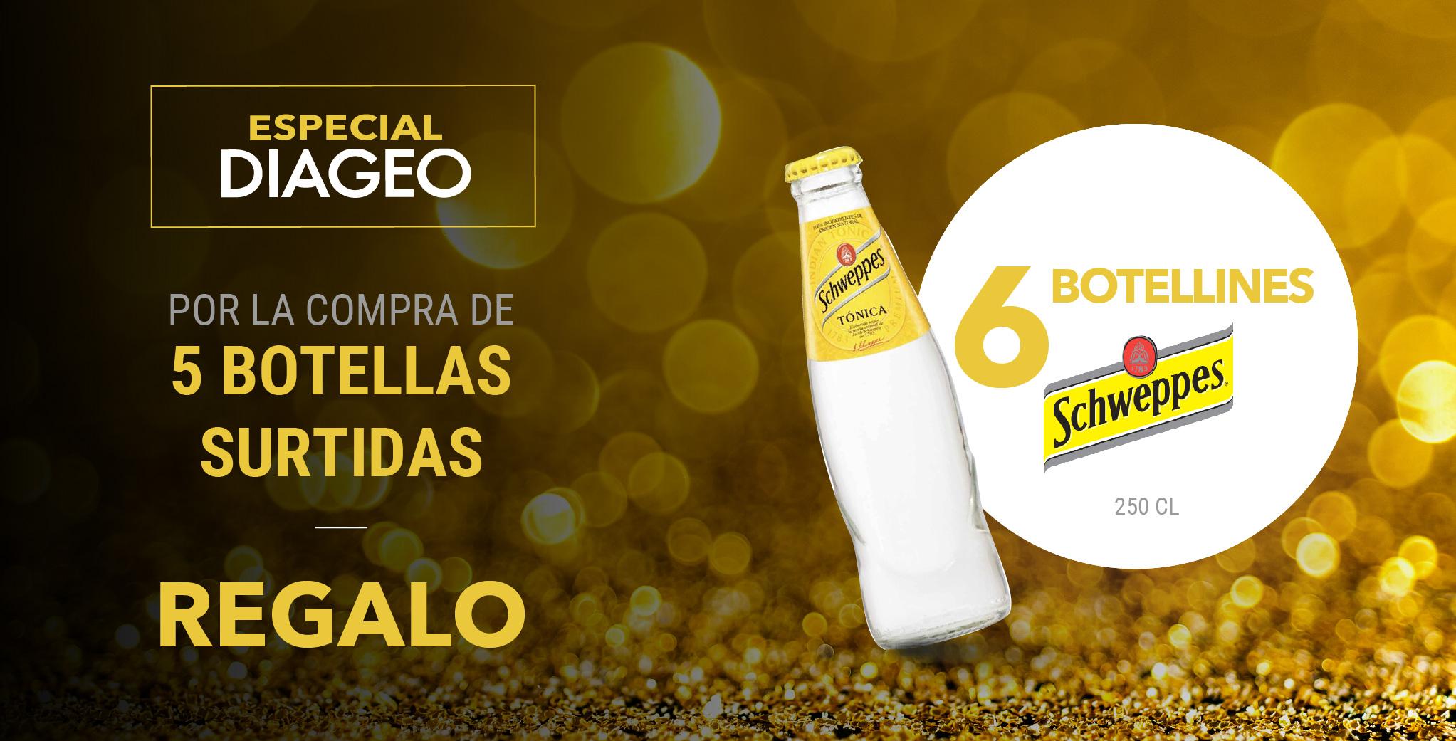 Especial Diageo - Botellas Schweppes
