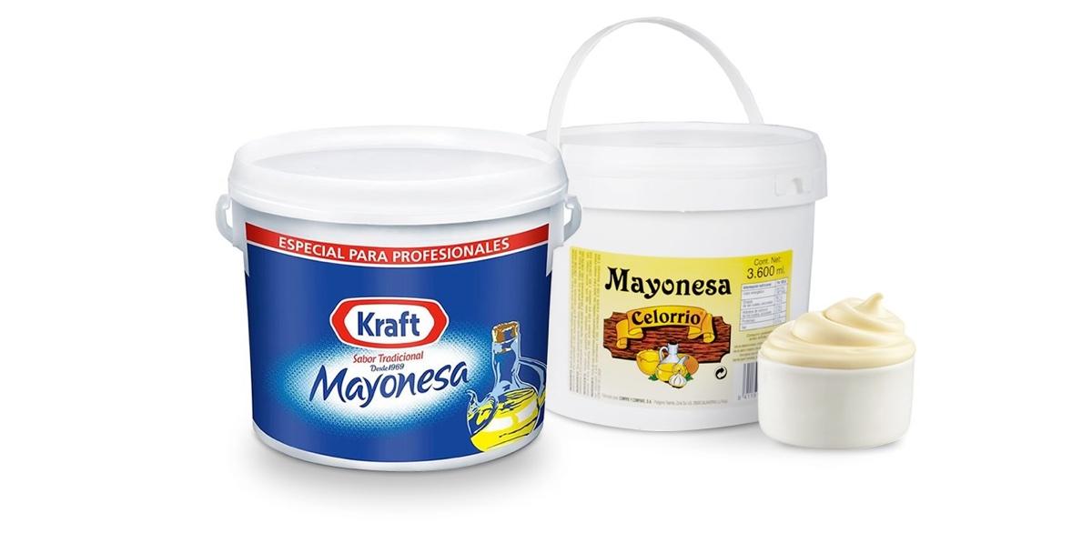 Cubo de mayonesa Kraft y Cubo de mayonesa Celorrio