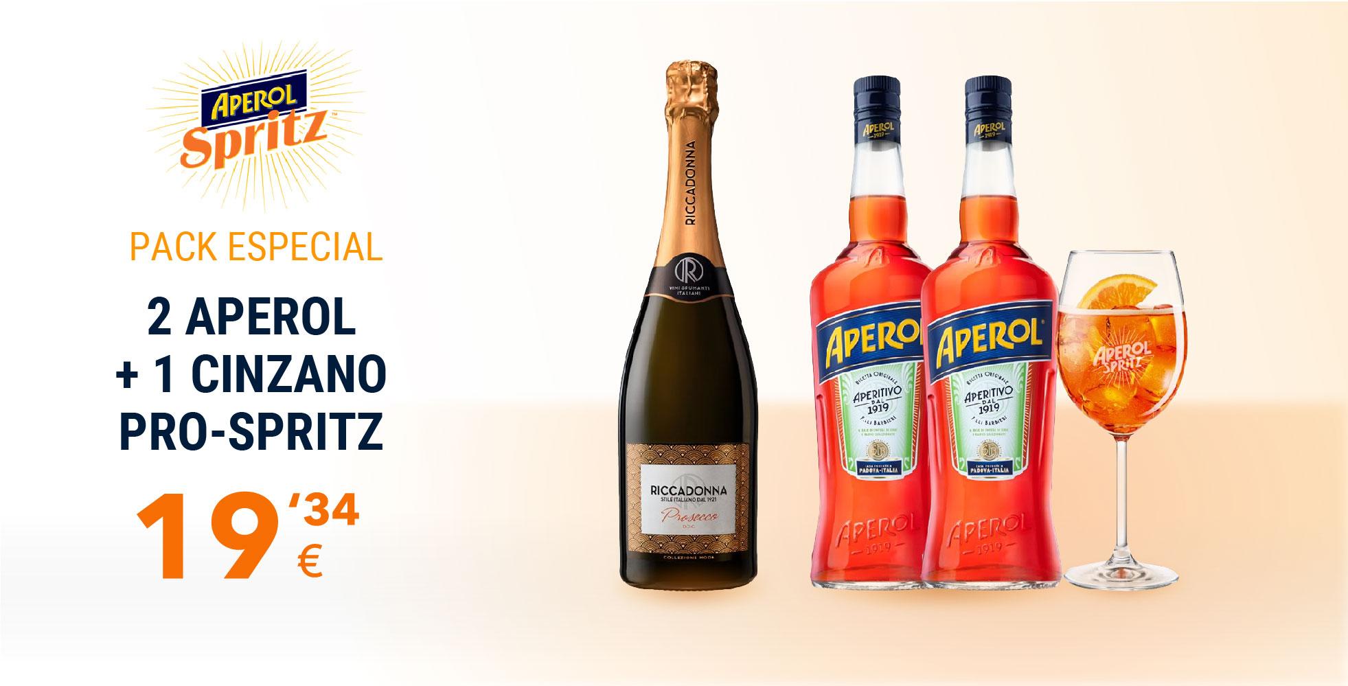 Pack Especial - 2 Aperol + 1 Cinzano Pro-Spritz